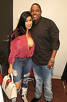 NEWARK, NJ - SEPTEMBER 25: Cardi B and Mase pictured backstage at the Bad Boy Family Reunion concert at The Prudential Center in Newark, New Jersey on September 25, 2016. Credit: Walik Goshorn/MediaPunch