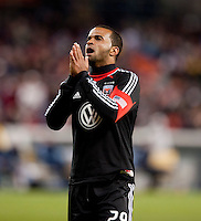 Maicon Santos (29) of D.C. United reacts to a missed chance on goal during the game at RFK Stadium in Washington, DC.  Sporting KC defeated D.C. United, 1-0.