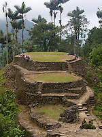 Ciudad Perdida - Colombia, Tourists and military officials enjoy the ruins of the &quot;Lost City&quot; in the in Sierra Nevada.