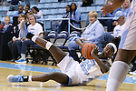 21 November 2015: North Carolina's Destinee Walker grabs a loose ball. The University of North Carolina Tar Heels hosted the Iona College Gaels at Carmichael Arena in Chapel Hill, North Carolina in a 2015-16 NCAA Division I Women's Basketball game. UNC won the game 64-52.