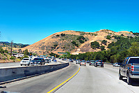 CA-101 Freeway, Lost Hills, Malibu Canyon, Calabasas, CA, limited access, divided highway, with, grade separated, junctions, without traffic lights or stop signs,