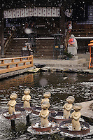 Buddhist statues along the route of the 88 temple pilgrimage, Shikoku, Japan, February 3, 2012.