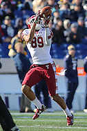 Annapolis, MD - December 3, 2016: Temple Owls wide receiver Keith Kirkwood (89) catches a touchdown pass during game between Temple and Navy at  Navy-Marine Corps Memorial Stadium in Annapolis, MD.   (Photo by Elliott Brown/Media Images International)