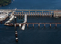 aerial photograph Chickamauga Dam Tennesse River Chattanooga