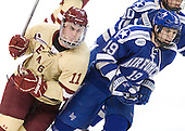 Pat Mullane (BC - 11), Stephen Carew (Air Force - 19) - The Boston College Eagles defeated the Air Force Academy Falcons 2-0 in their NCAA Northeast Regional semi-final matchup on Saturday, March 24, 2012, at the DCU Center in Worcester, Massachusetts.