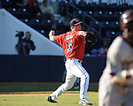 Ole Miss pitcher Drew Pomeranz throws out a runner vs. Louisiana-Monroe at Oxford-University Stadium in Oxford, Miss. on Friday, February 19, 2010.