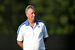 06 September 2013: Duke head coach Robbie Church. The Duke University Blue Devils hosted the West Virginia University Mountaineers at Koskinen Stadium in Durham, NC in a 2013 NCAA Division I Women's Soccer match. The game ended in a 1-1 tie after two overtimes.