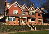 BNPS.co.uk (01202 558833)<br /> Pic: SteppingStones/BNPS<br /> <br /> Much like his famous fictional detective, Sir Arthur Conan Doyle's former home has been brought back from the dead.<br /> <br /> Undershaw, the home the author helped design, fell into disrepair after the hotel which ran there for 80 years closed in 2004 but in a resurrection worthy of Sherlock Holmes himself the derelict landmark has been restored to its former glory.<br /> <br /> The building is now part of Stepping Stones, a special needs school in Hindhead, Surrey, and has been nominated for a heritage award.
