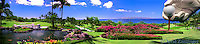 Golf Course Hand with Ball 10th Hole, Wailea Gold Course, challenging, rugged masterful design, natural undulations, Created by, architect, Robert Trent Jones II