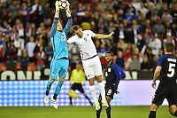 Washington, D.C. - October 11, 2016: The U.S. Men's National team and New Zealand are all even 0-0 in first half play in an international friendly game at RFK Stadium.