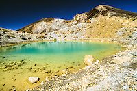 Emerald Lakes on Tongariro Crossing Track, Tongariro National Park, Central Plateau, New Zealand