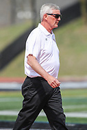 Towson, MD - March 25, 2017: Denver Pioneers head coach Bill Tierney during game between Towson and Denver at  Minnegan Field at Johnny Unitas Stadium  in Towson, MD. March 25, 2017.  (Photo by Elliott Brown/Media Images International)