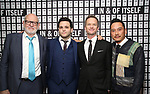 Frank Oz, Derek DelGaudio, Neil Patrick Harris, Glenn Kaino attend the Opening Night after party for 'In & Of Itself' at ACE Hotel on April 12, 2017 in New York City.