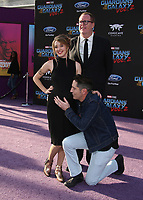 """HOLLYWOOD, CA - April 19: David Dastmalchian, Evelyn Leigh, Steve Agee, At Premiere Of Disney And Marvel's """"Guardians Of The Galaxy Vol. 2"""" At The Dolby Theatre  In California on April 19, 2017. Credit: FS/MediaPunch"""