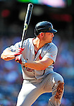 29 August 2010: St. Louis Cardinals outfielder Matt Holliday breaks his bat during game action against the Washington Nationals at Nationals Park in Washington, DC. The Nationals defeated the Cards 4-2 to take the final game of their 4-game series. Mandatory Credit: Ed Wolfstein Photo