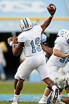 19 November 2016: The Citadel quarterback Dominique Allen. The University of North Carolina Tar Heels hosted the The Citadel, The Military College of South Carolina Bulldogs at Kenan Memorial Stadium in Chapel Hill, North Carolina in a 2016 NCAA Division I College Football game. UNC won the game 41-7.