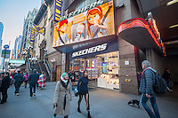 A Skechers store in Times Square in New York on Wednesday, January 25, 2017. Skechers has filed a petition with the Patent Trial and Appeal Board to invalidate two of Nike's patents. Lat year Nike filed a lawsuit against Skechers claiming that their footwear infringes on Nike's patents.  (© Richard B. Levine)