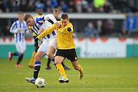 VOETBAL: HEERENVEEN: Abe Lenstra Stadion, 09-12-2012, Eredivisie 2012-2013, SC Heerenveen - Roda JC, Eindstand 4-4, Alfred Finnbogason (SCH), Amin Affane (RodaJC), ©foto Martin de Jong