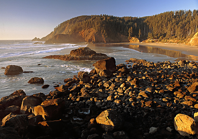 View of Indian Beach in Ecola State Park, Oregon, USA