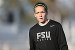 02 November 2012: Florida State's Kelsey Wys. The Florida State University Seminoles played the University of Virginia Cavaliers at WakeMed Stadium in Cary, North Carolina in a 2012 NCAA Division I Women's Soccer and Atlantic Coast Conference Tournament semifinal game. Virginia won the game 4-2.