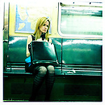 Woman in the NYC Subway.