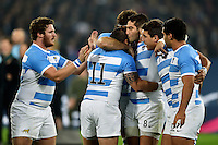 Horacio Agulla with his team-mates on the occasion of his final appearance for Argentina. Rugby World Cup Bronze Final between South Africa and Argentina on October 30, 2015 at The Stadium, Queen Elizabeth Olympic Park in London, England. Photo by: Patrick Khachfe / Onside Images
