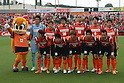 eAa{EAEaEfEBA[EWEE/Omiya Ardija team group line-up,.MAY 7, 2011 - Football :.Omiya Ardija players (Top row - L to R) Takashi Kitano, Kota Ueda, Kim Young Gwon, Rafael, Takuya Aoki, Lee Chun Soo, (Bottom row - L to R) Keigo Higashi, Daisuke Watabe, Daigo Watanabe, Kazuhiro Murakami and Yuki Fukaya pose for a team photo with the club mascot &quot;Miya&quot; before the 2011 J.League Division 1 match between Omiya Ardija 0-0 Albirex Niigata at NACK5 Stadium Omiya in Saitama, Japan. (Photo by Hiroyuki Sato/AFLO)
