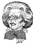 (Caricature of Margaret Thatcher)