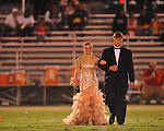 Freshman maid Meghan Munson (left) with escort Tate Russell at Lafayette High vs. Tunica Rosa Fort in Oxford, Miss. on Friday, October 5, 2012. Lafayette High won 35-6.