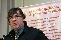 Dr Marquis Fortin<br /> conference de presse sur la prevention du suicide<br /> photo : Delphine Descamps - Images Distribution