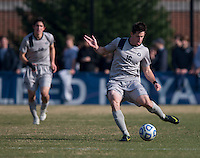 Jimmy Nealis (16) of Georgetown passes the ball forward during the game at North Kehoe Field in Washington, DC.  Georgetown defeated San Diego, 3-1.