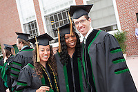 Anna Meyendorff, Stell Patadji, Christopher Duncan. Commencement class of 2013.