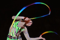 Aliya Garaeva of Azerbaijan performs gala exhibition at 2010 World Cup at Portimao, Portugal on March 14, 2010.  (Photo by Tom Theobald).
