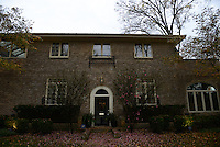 The house US Democratic Party Presidential candidate Hillary Clinton grew up in in Park Ridge, Illinois on election day November 8, 2016.