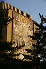 Hesburgh Library &quot;Word of Life&quot; mural, a.k.a. Touchdown Jesus.<br />