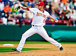 9 March 2010: Washington Nationals' pitcher Aaron Thompson on the mound during a Spring Training game against the Detroit Tigers at Space Coast Stadium in Viera, Florida. The Tigers defeated the Nationals 9-4 in Grapefruit League action. Mandatory Credit: Ed Wolfstein Photo