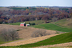 A farmstead in Iowa County Wisconsin after the fall harvest...