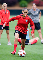 Carli Lloyd. The USWNT practice at WakeMed Soccer Park in preparation for their game with Japan.