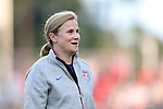 20 August 2014: U.S. head coach Jill Ellis. The United States Women's National Team played the Switzerland Women's National Team at WakeMed Stadium in Cary, North Carolina in an women's international friendly soccer game. The United States won the match 4-1.