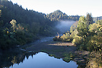 Russian River in morning in October