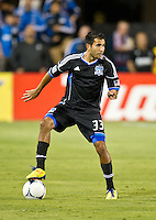 SANTA CLARA, CA - July 18, 2012: San Jose Earthquake defender Steven Beltashour (33) during the San Jose Earthquakes vs  FC Dallas match at the Buck Shaw Stadium in Santa Clara, California. Final score San Jose Earthquakes 2, FC Dallas 1.