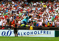 WASHINGTON, DC - June 02 2013: USA MNT v Germany MNT in the US Soccer Centennial match at RFK Stadium, in Washington DC.Marc-André ter Stegen (22) is beaten on Clint Dempsey (8) second goal. USA won 4-3.