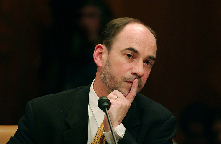02/01/05.BUDGET AND ECONOMIC OUTLOOK--Douglas Holtz-Eakin, director of the Congressional Budget Office, during the Senate Budget hearing on the CBO report on the budget and economic outlook..CONGRESSIONAL QUARTERLY PHOTO BY SCOTT J. FERRELL