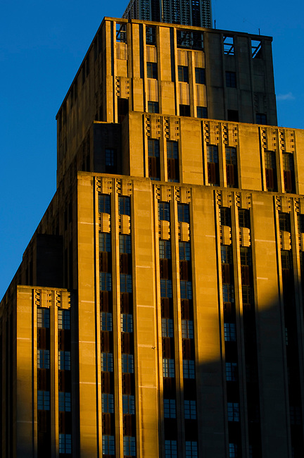 175 Franklin Street in Boston, MA is a good example of the Art Deco style of architecture.