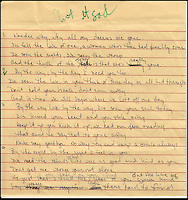 "BNPS.co.uk (01202 558833).Pic: FameBureau/BNPS..Handwritten lyris for ""Aint it Sad'...Get me Wonga.....A 'lost' archive of original music manuscripts, contracts and pictures of the Beach Boys has emerged for sale for nearly seven million pounds...The vast collection, that spans the first 20 years of the band's hugely successful career and consists of thousands of documents, was found forgotten in a storage unit...The treasure trove includes the sheet music for the Beach Boys' classic hits like 'God Only Knows', 'Good Vibrations' and 'Fun, Fun, Fun.'..It also includes handwritten lyrucs, recording contracts and copyright certificates signed by Brian Wilson and Mike Love, musical arrangements, royalty cheques and personal letters...And there are more than 60 behind-the-scenes photos of the hugely successful American rock band, many of them never seen before.."
