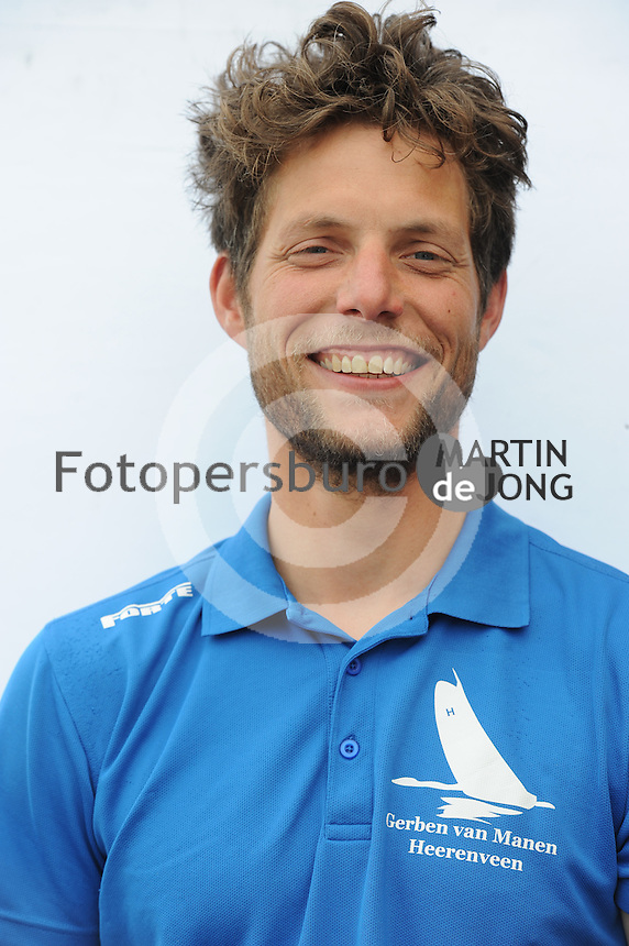 SKÛTSJESILEN: HEERENVEEN: Portretfoto's bemanning skûtsje Gerben van Manen, Sytze Brouwer, ©foto Martin de Jong