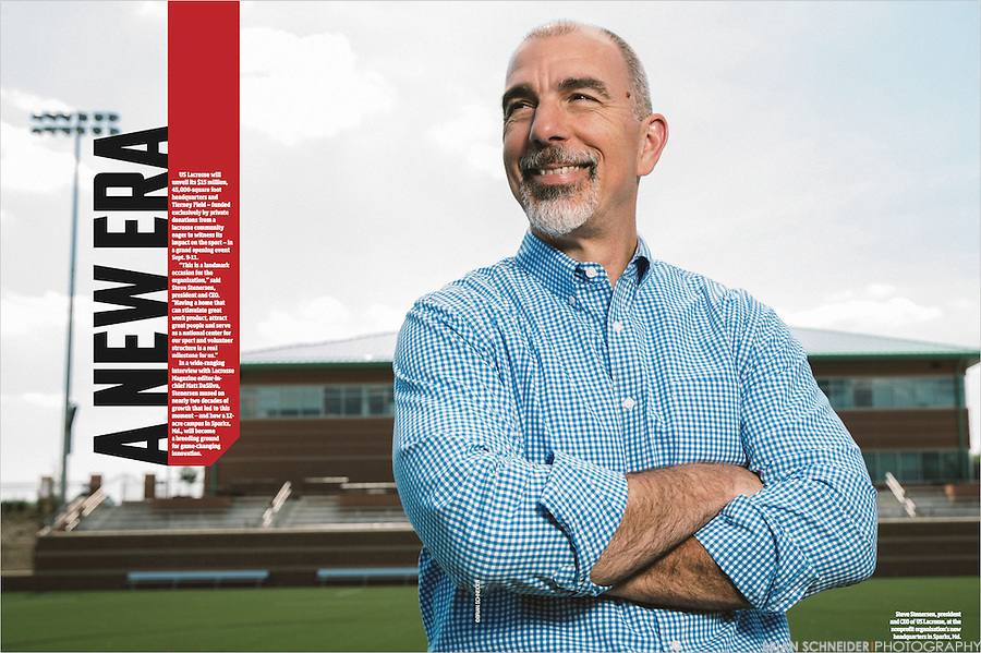 Tear sheet of US Lacrosse CEO Steve Stenersen