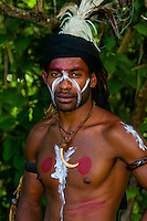 Wetr tribal dancers, Hnathalo, Lifou (island), Loyalty Islands, New Caledonia