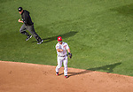6 April 2015: Washington Nationals second baseman Dan Uggla in action during the Home Opening Game against the New York Mets at Nationals Park in Washington, DC. The Mets rallied to defeat the Nationals 3-1 in their first meeting of the 2015 MLB season. Mandatory Credit: Ed Wolfstein Photo *** RAW (NEF) Image File Available ***