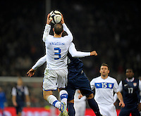 Giorgio Chiellini (ITA) catch the Ball, during the friendly match Italy against USA at the Stadium Luigi Ferraris at Genova Italy on february the 29th, 2012.